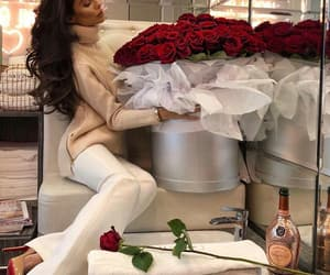 champagne, women, and flowers image