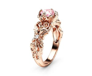 engagementring, nature inspired, and leaves ring image