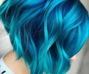blue, cabelo, and ocean image