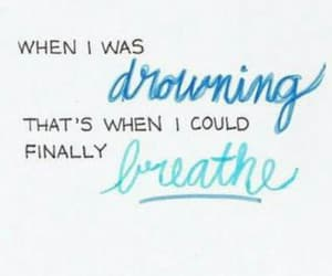 aesthetic, breathe, and drowning image
