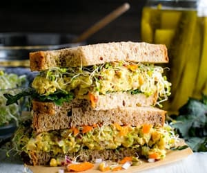 sandwich, food, and chickpea image