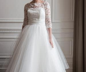 bridal, vintage wedding dress, and wedding image