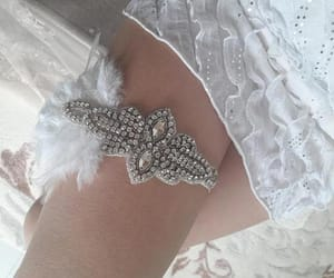 etsy, feather, and bridal garter image
