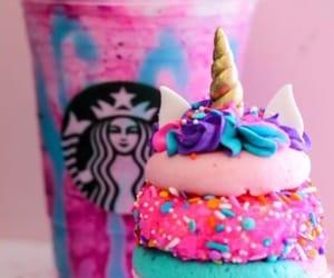 starbucks, unicorn, and cupcake image