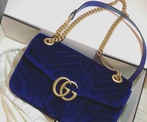bag, blue, and gucci image