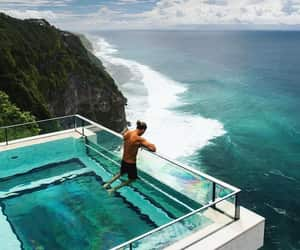 pool, bali, and goals image