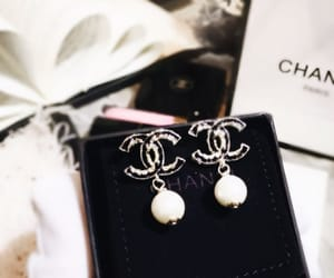black, chanel, and earring image