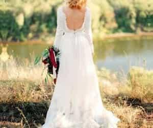 boho, spring, and bridal dress image