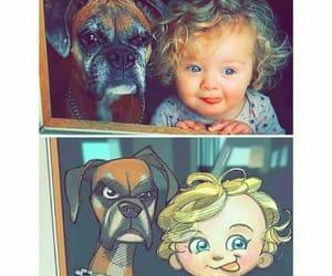 art, cartoon, and dog image