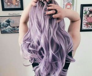 hair, purple, and girl image