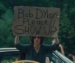 bob dylan, car, and cardboard image