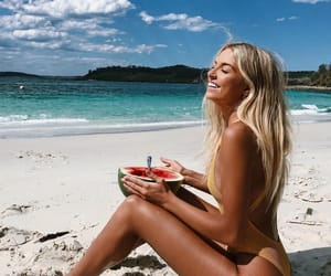 beach, hair, and clothes image