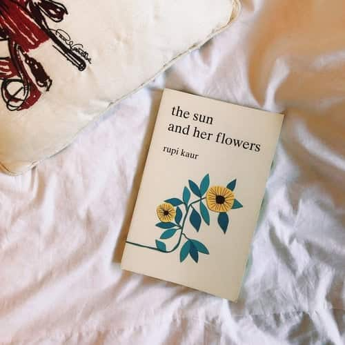 poetry, rupi kaur, and the sun and her flowers image