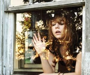 girl, window, and house image