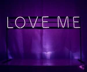 love, neon, and purple image