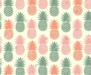 fruit, pattern, and pineapple image