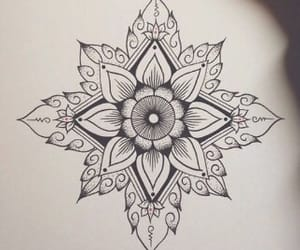 art, body, and flower image