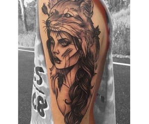 art, body, and inked image