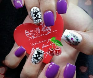violet, nail art, and attrape rêve image