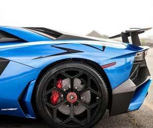 blue, Lamborghini, and sports car image