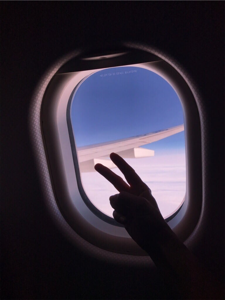 artsy airplane window aesthetic