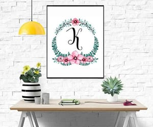 etsy, letter wall art, and nursery print image