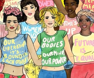 woman, feminism, and empowerment image
