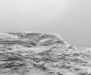 emotions, gray, and ocean image