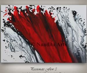 Abstract Painting, etsy, and red painting image