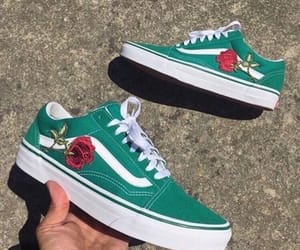shoes, green, and rose image