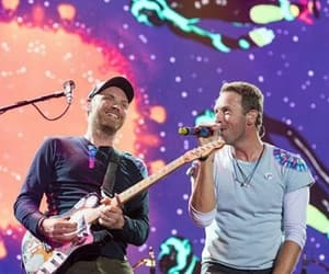 Chris Martin, coldplay, and jonny buckland image