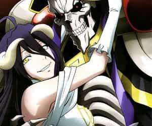 anime, couple, and overlord image