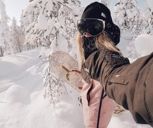 snow, snowboard, and snowy image