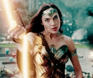 gif, justice league, and wonder woman image