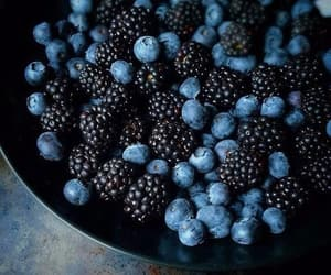food, berries, and blueberry image