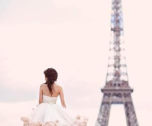 paris, dress, and wedding image