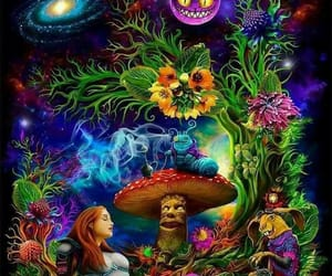drugs, flowers, and lsd image
