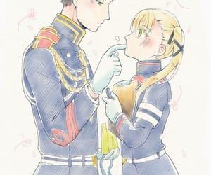 anime, blush, and couple image