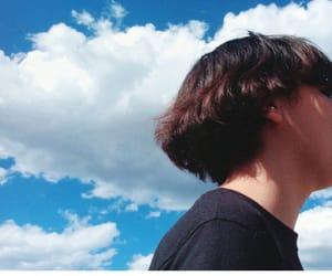 azul, cielo, and hair image
