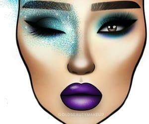 artsy, makeup inspo, and goldbeautymakeup image