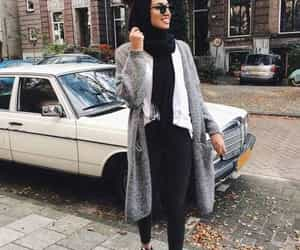 hijab, winter, and ootd image