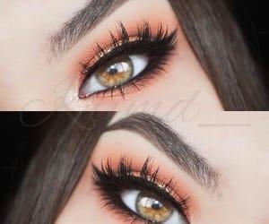 beautiful, green eyes, and makeup image
