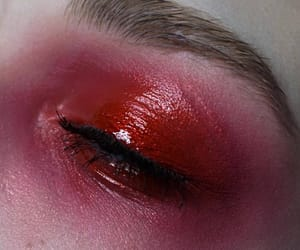 dark red, eyeshadow, and red image