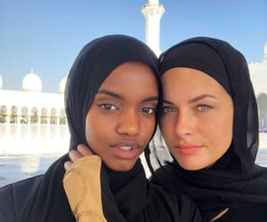 beautiful, girls, and hijab image