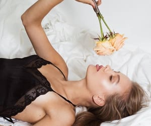 beauty, bed, and black image