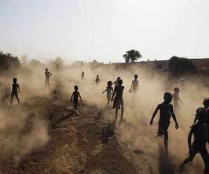 africa, children, and running image