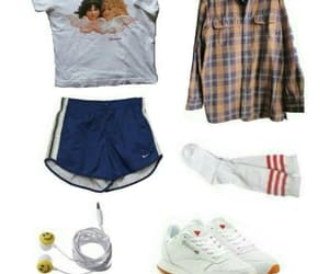 Polyvore, short, and sneakers image