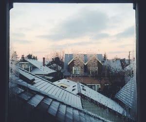 window, winter, and rain image