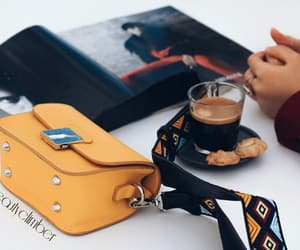 bag, clutch, and coffee image