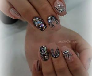 beautiful, diamonds, and nails image